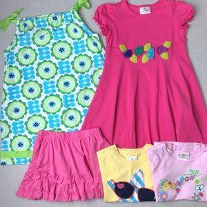 HANNA ANDERSSON Bundle 2 Dresses, 1 Skort, 2 Tops